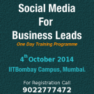 Social Media training programme for business leads on 4th October 2014