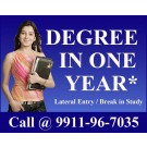 Complete Graduation Degree in One Year | Degree in Fast Track Mode through One Single Sitting Call 0