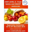 NIST-CIEH Level 2 Award for Food Safety Courses in Bangalore