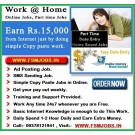 Work From Home Internet Jobs-Data Typing Job-Ad Posting Jobs