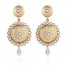 Jewels Tradtional Gold Plated Handcrafted Kundan Earrings
