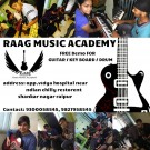 learn to play guitar drum keybord and singing classes in raipur