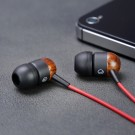 Natural Wood in-ear Earphones High Fidelity Headphones for your mobile and other devices