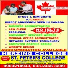 STUDY & IMMIGRATE TO  CANADA ( NO IELETS REQUIRED )