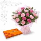 Sensational Carnation Rose with Celebration