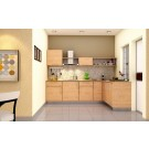 Heron Elegant L-Shaped Kitchen- HomeLane