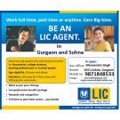 Be an LIC Agent in Sohna and Gurgaon