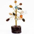 Satyamani Energized Multi-Onyx Quartz Crystal Tree Small