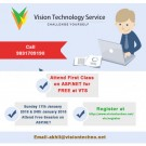 Attend First Class on ASP.NET for FREE at VTS