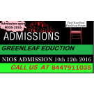 NIOS OCTOBER 2016 10TH & 12TH ADMISSIONS OPEN