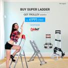 Buy Super Ladder Get Trolley Worth Rs 6995 Free