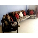 3 Seater Sofa 2 Chairs  for Sale Teak Wood