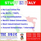 Hurry up Study in ITALY EUROPE