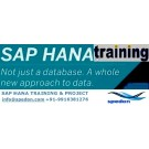 SAP HANA TRAINING PROJECT SESSION BY INDUSTRY EXPERTS