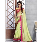 Varsiddhi Designer Yellow Georgette saree - Online Shopping India