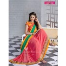 Varsiddhi Designer Green Georgette saree - Online Shopping India