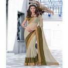 Mahotsav Designer Lycra Offwhite Saree - Online Shopping India