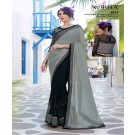 Mahotsav Designer Chiffon Black Saree - Online Shopping India