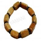 Satyamani Peachmoonstone with metallic Rings