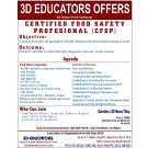 Certified food safety profesional course offer by 3d educato