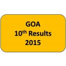 Goa SSC 10th Results 2015