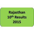 Rajasthan Board Class 10th Results 2015