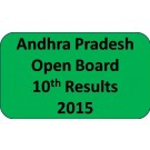 Andhra Pradesh open board 10th class Result 2015
