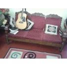 sofa set with wooden center table for sale