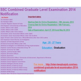 SSC Combined Graduate Level Examination 2014 Notification