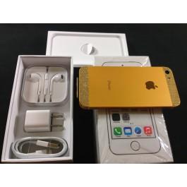 IPHONE 5S 64GB NEW 24K GOLD WHITE SWAROVSKI UNLOCKED -24K GOLD CERTIFICATION