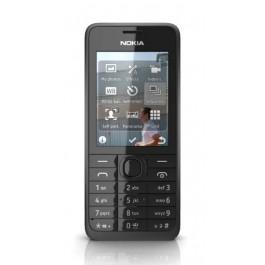 Nokia 301 Black  (Silver-66802)