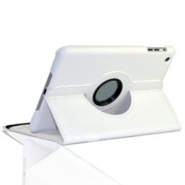 360 Degree Rotating Leather Case With Stand for Ipad Air White