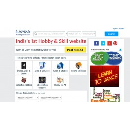 India's dedicated Hobby and Skill Listing website