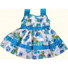 Blue handmade frock for girls