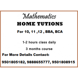 Group &  Home tuition in Mathematics for classes BBA