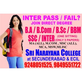 Inter Fail join BA B.COM Degree call 9246451525