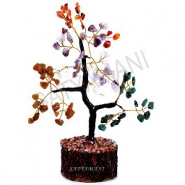 Satyamani Energized Multi Crystal  Tree for Five Element Art2 Medium