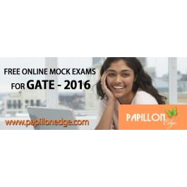 Take Online Free GATE 2016 Mock Test today at Papillon Edge