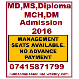 MD MS Diploma MCH DM Admission through Mng./NRI/PIO Quota