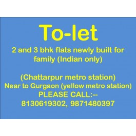 all bhk available for rent in chattarpur