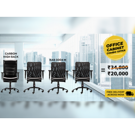 Buy HOF Premium Executive Office Cabinet Combo Chairs and Get 43% Off