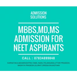 MBBS,BDS Admission for NEET Aspirants through Managenent/NRI Quota with Lowest Budget in India.