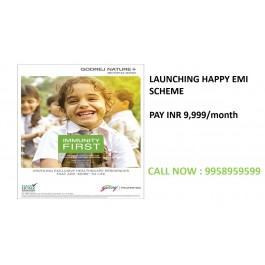 Godrej nature plus happy emi scheme, Godrej nature plus emi scheme gurgaon, 9958959599,
