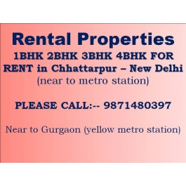 flats for rent in chattarpur