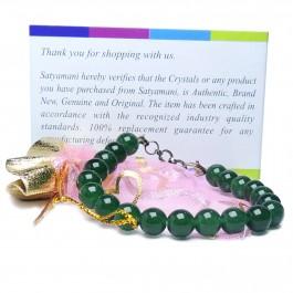 Satyamani Green Onyx Bead Bracelet with Hook