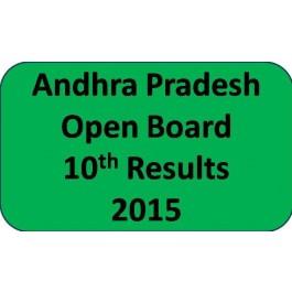 Andhra Pradesh open board 10th class Result 2015