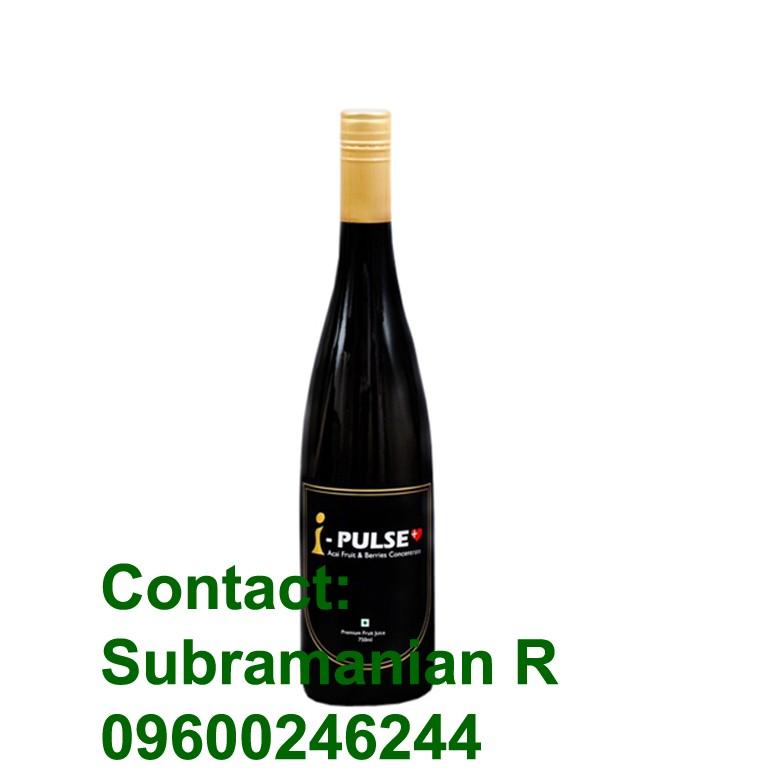 acai berry wine bottle