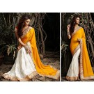Cream Saree  Zari Work