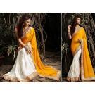 Cream Saree  Zari Work