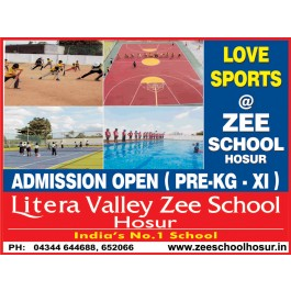 Schools in Hosur - Litera Valley Zee School